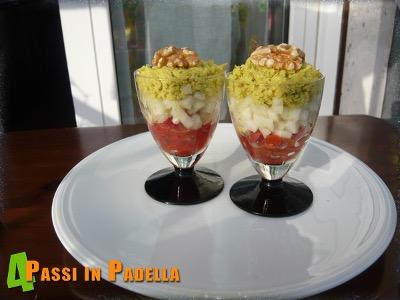 Cocktail di pomodori, finocchi e avocado